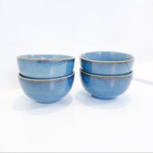"""Sheffield Home 4"""" diam Blue Gold Small Tapas Bowls"""
